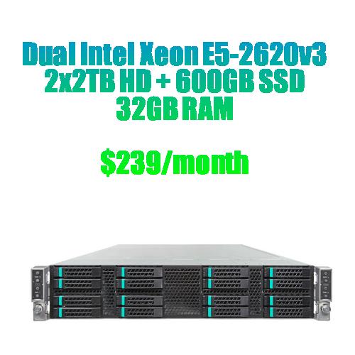 dual intel xeon e5 2620 dedicated server