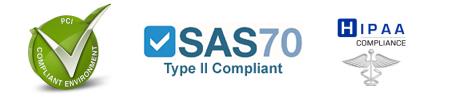 SAS70, PCI, HIPPA Compliance